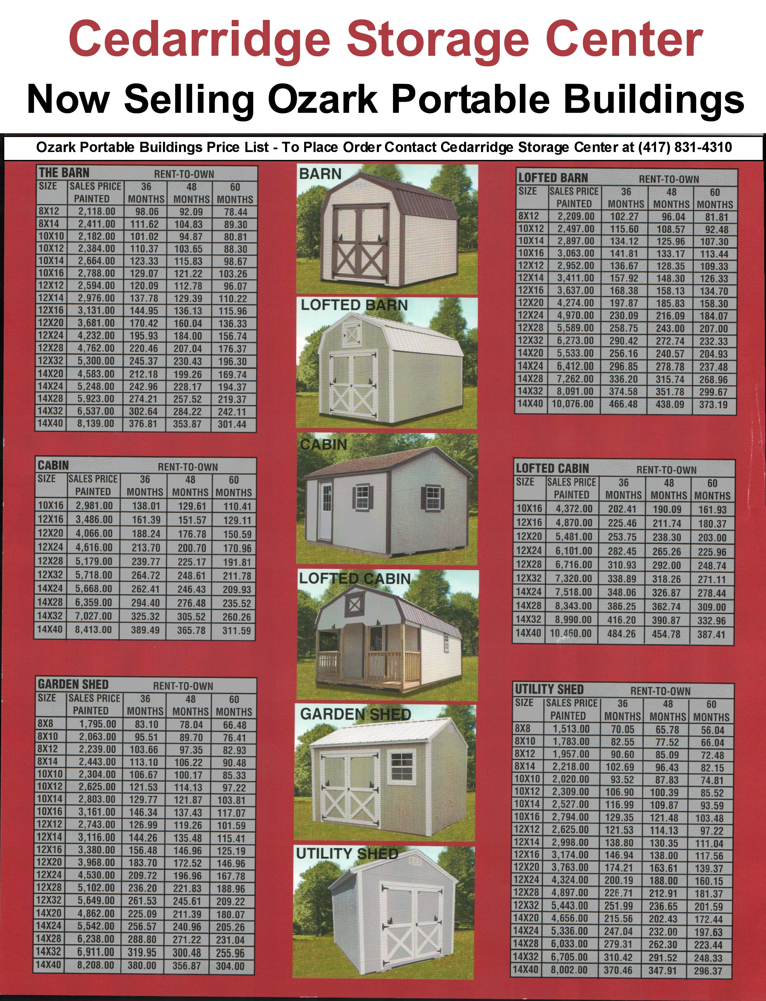 Cedar Ridge Portable Buildings